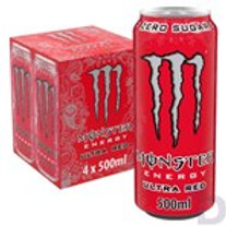 MONSTER ULTRA RED ENERGY DRINK 4 X 500 ML