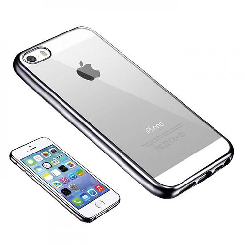 ULTRA THIN CLEAR GEL COVER WITH GREY BUMPER IPHONE 6 PLUS / 6S PLUS