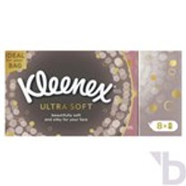 KLEENEX ULTRA SOFT TISSUES 8 POCKET PACKS