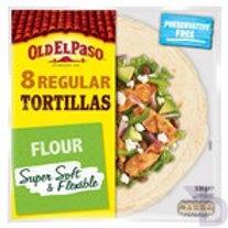OLD EL PASO REGULAR SUPER SOFT FLOUR TORTILLAS X8 326 G