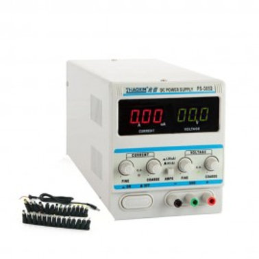 3A/A5 0-15V DC POWER SUPPLY PRECISION VARIABLE DIGITAL ADJUSTABLE W/ CLIP CABLE