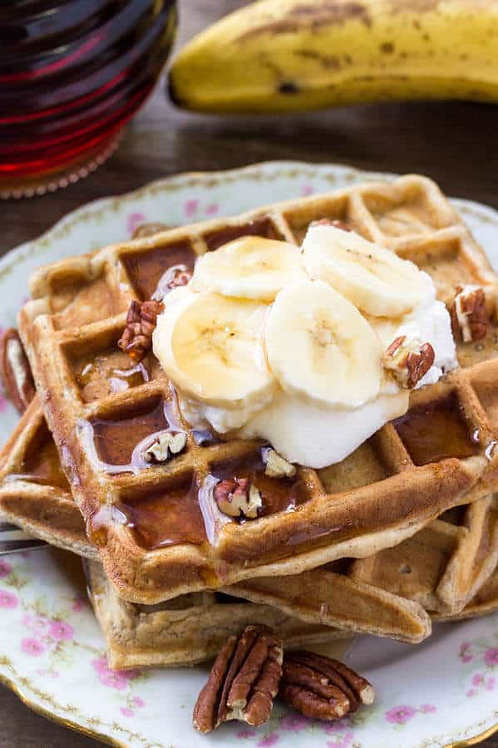 Banana caramelised Waffle