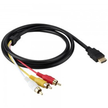 HDMI MALE TO 3 RCA AUDIO VIDEO AV COMPONENT CABLE