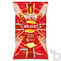 WALKERS READY SALTED CRISPS 6X25 G
