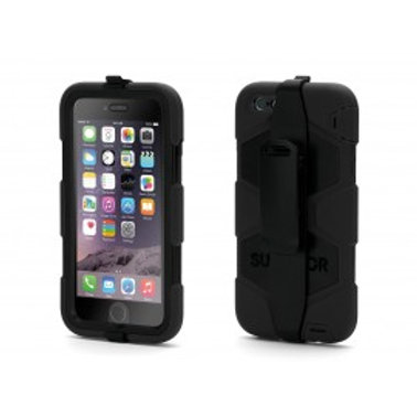 HARD RUGGED HEAVY DUTY SHOCK PROTECTIVE SURVIVAL CASE FOR IPHONE 6/6S-BLACK