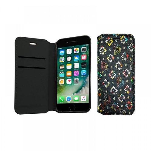 DIAMOND BOOK CASE WITH WALLET SLOT COMPATIBLE FOR IPHONE 6 PEACH