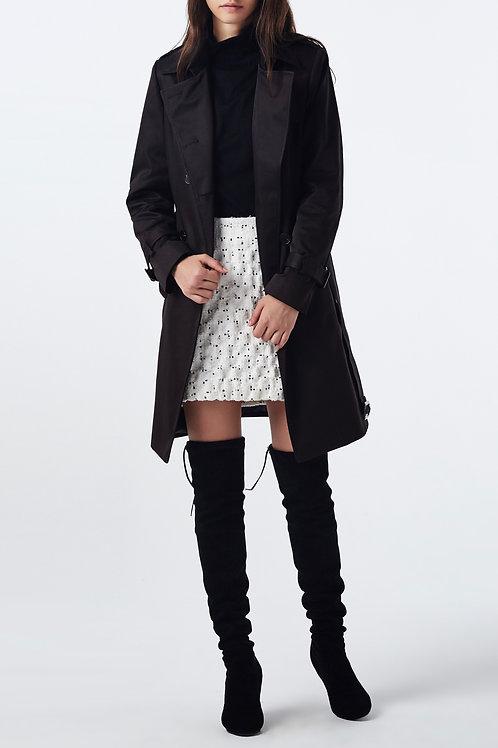 trench coat long 100% coton femme devant 2