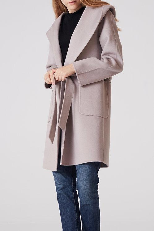 manteau cachemire femme capuche devant 2