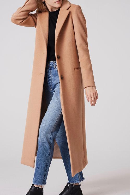 manteau cachemire femme très long devant