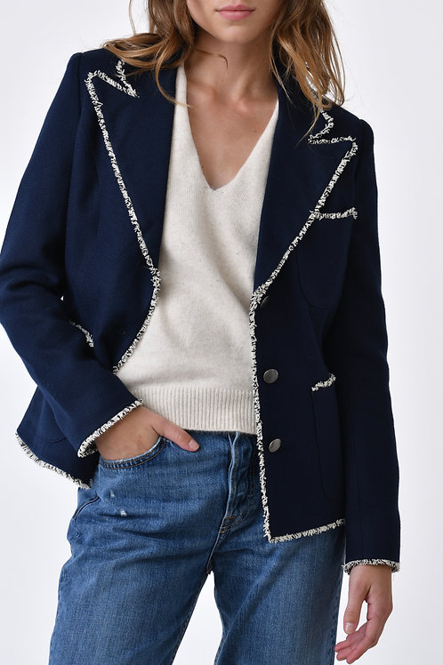 Jade Cotton and Wool Jacket