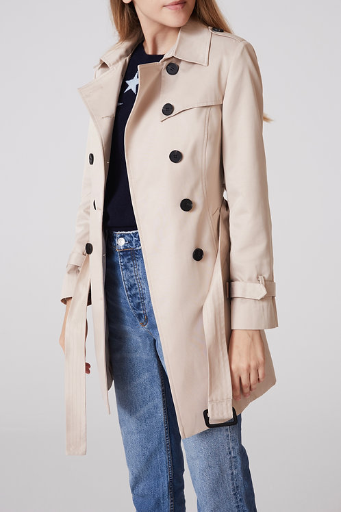 trench coat femme 100% coton devant