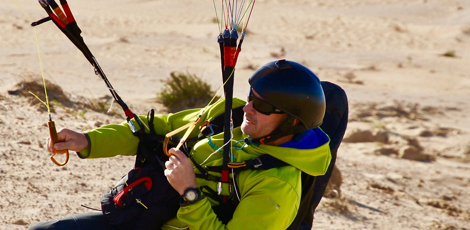 Tim King portrait paragliding lesson