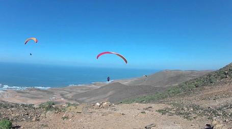 Post CP soaring at Legzira Morocco Sky Paragliding