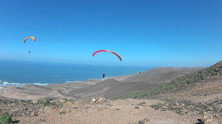Post CP soaring at Legzira Morocco Sky Paragliding