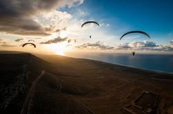 Nid'aigle sunset paragliding