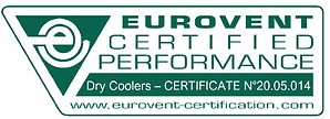 Eurovent certificate 2005014 dry coolers