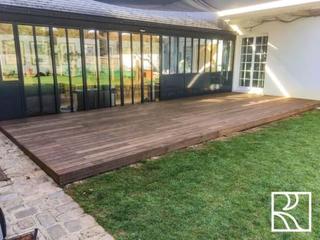 Terrasse bois à Marnes-la-Coquette (92) – Avril 2021