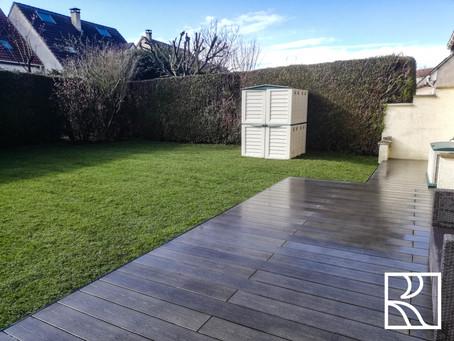 Aménagement d'un jardin à Montigny-le-Bretonneux (78) - Mars 2021