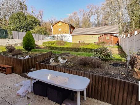 Aménagement de jardin 12 ans après à Linas (91)