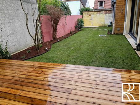 Aménagement d'un jardin à Jouy-en-Josas (78) Janvier 2021