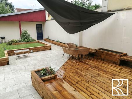 Aménagements paysagers au Chesnay (78) - Juillet/Août 2021