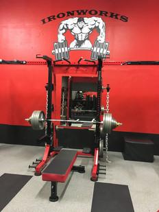 Ironworks Gym Fat Bench Powerlifting Rack