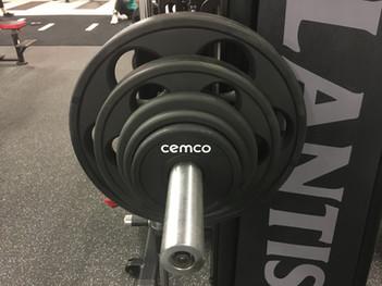 Ironworks Gym Cemco 6 Hole Urethane Olympic Plates