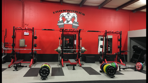 Ironworks Gym Racks with Drop Zones