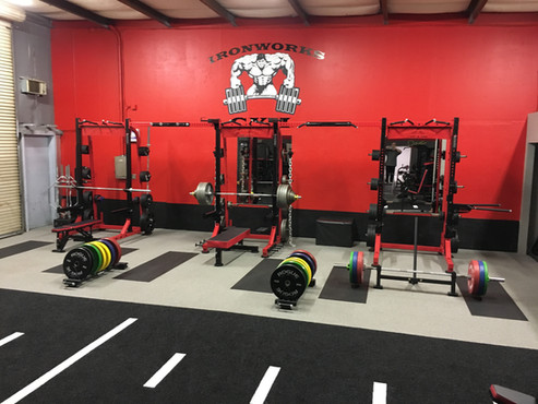 Ironworks Gym Powerlifting, Deadlifts, Bench, Squat Area
