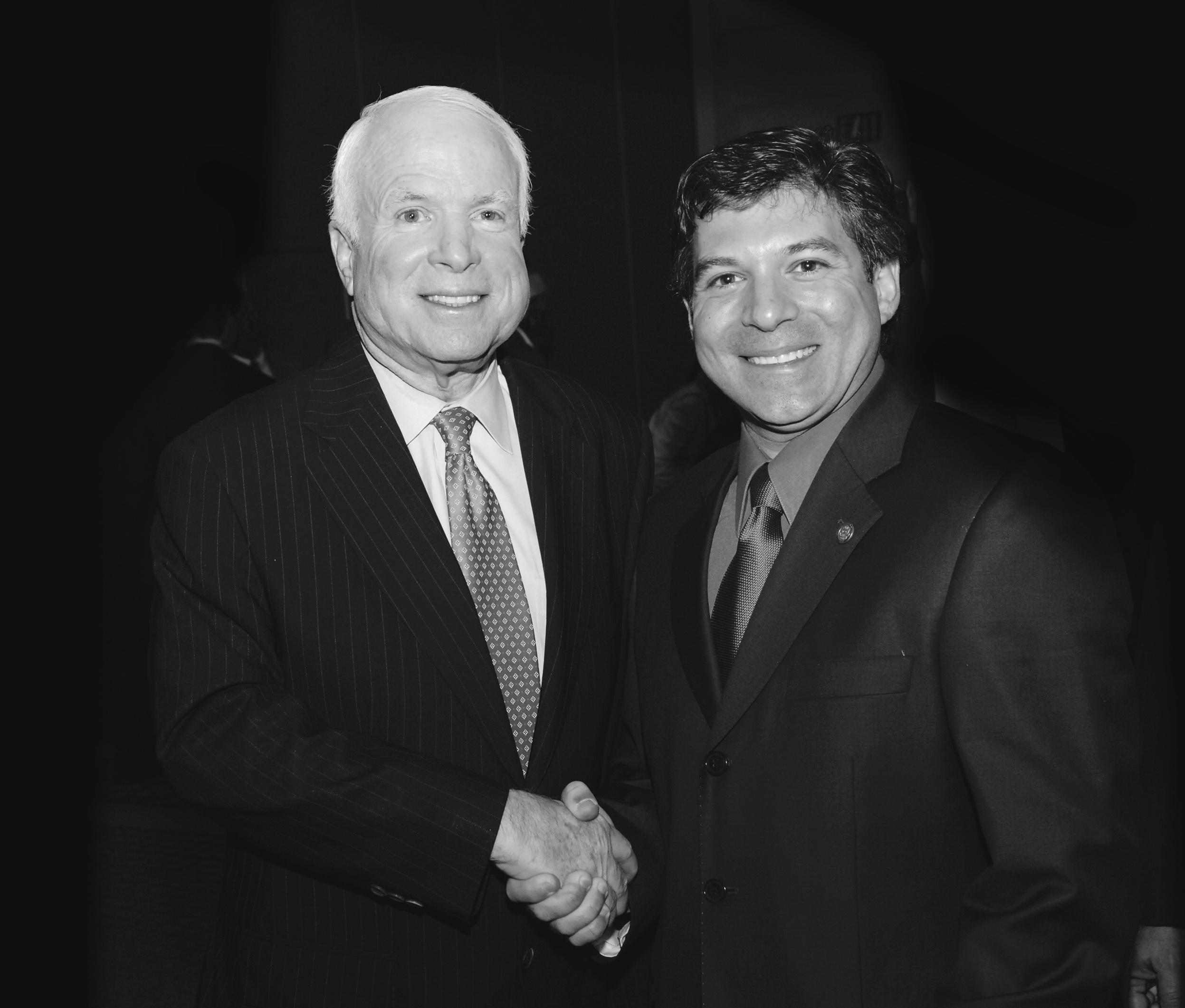 Lou Penrose and Senator John McCain