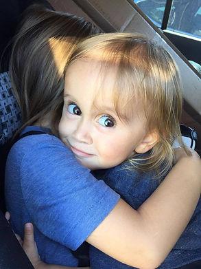 Millie an Maddox Hug