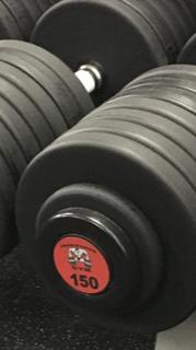 Ironworks Gym Custom Cemco Pro-Style Urethane Dumbbells