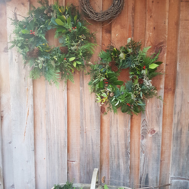 finished wreaths