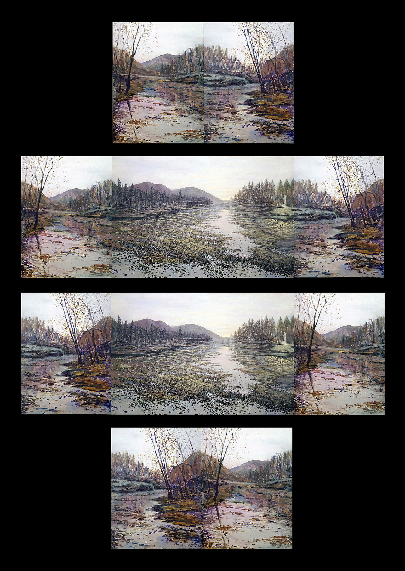 Peaceful Silence (Interchangeable Triptych)