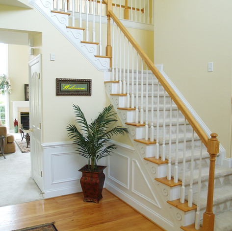 Finished Carpentry Interior Stairs