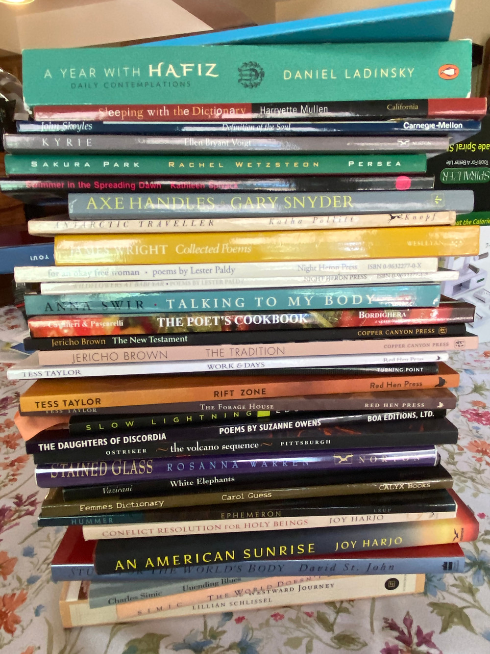 That's right this part of my stack--the rest is coming in from Black Lawrence Press