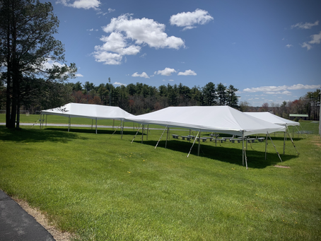 Outdoor tents installed for spring at WHS