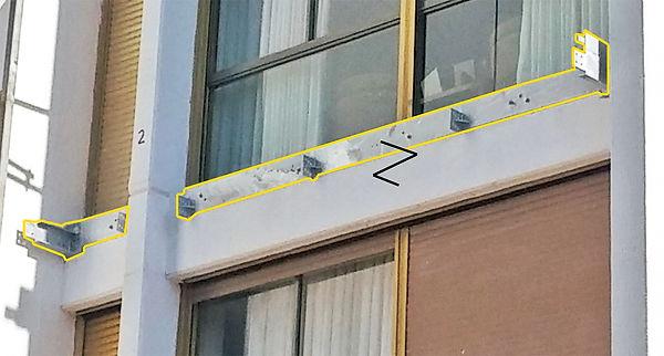 תוספת מרפסות תלויות - תושבת פלדה