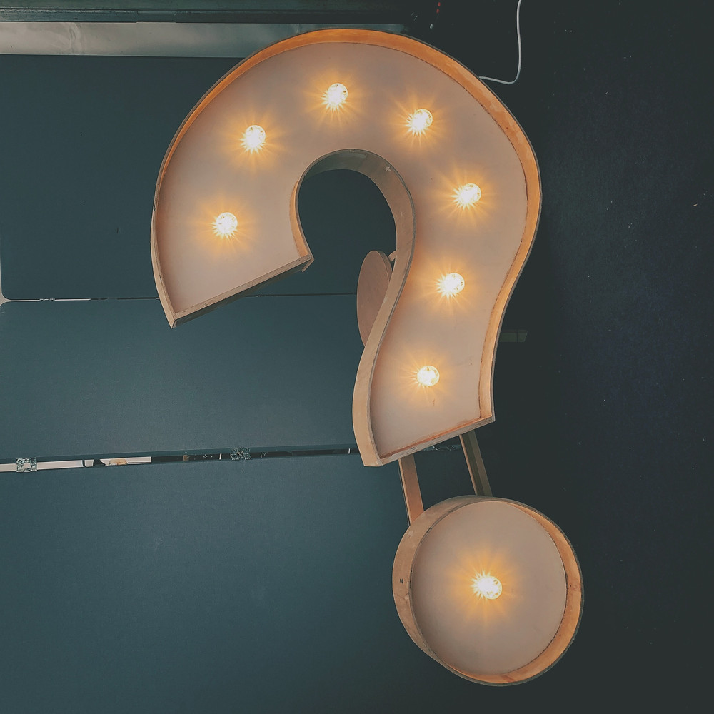 lights in a question mark symbol