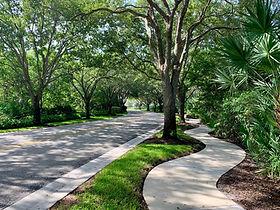 Arbors entry sidewalk