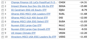 ESG Large Cap Performance