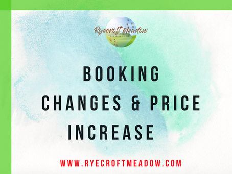 Changes to the Booking System & Price Increase