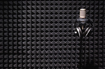 microphone in sound studio