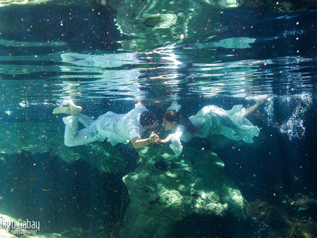 Cenote wedding and trash the dress