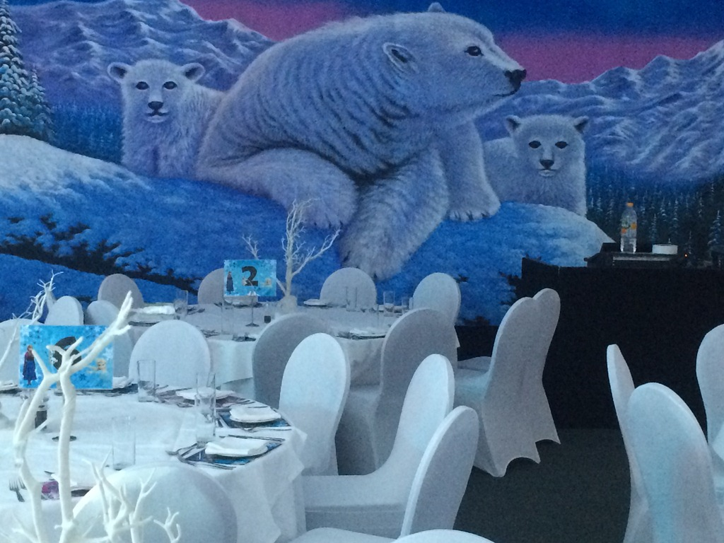 polar bear backdrop