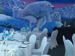 polar bear backdrop