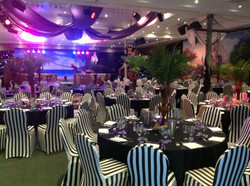 Striped chair covers