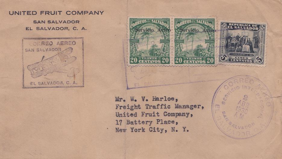 United Fruit Company Aéreo 1930