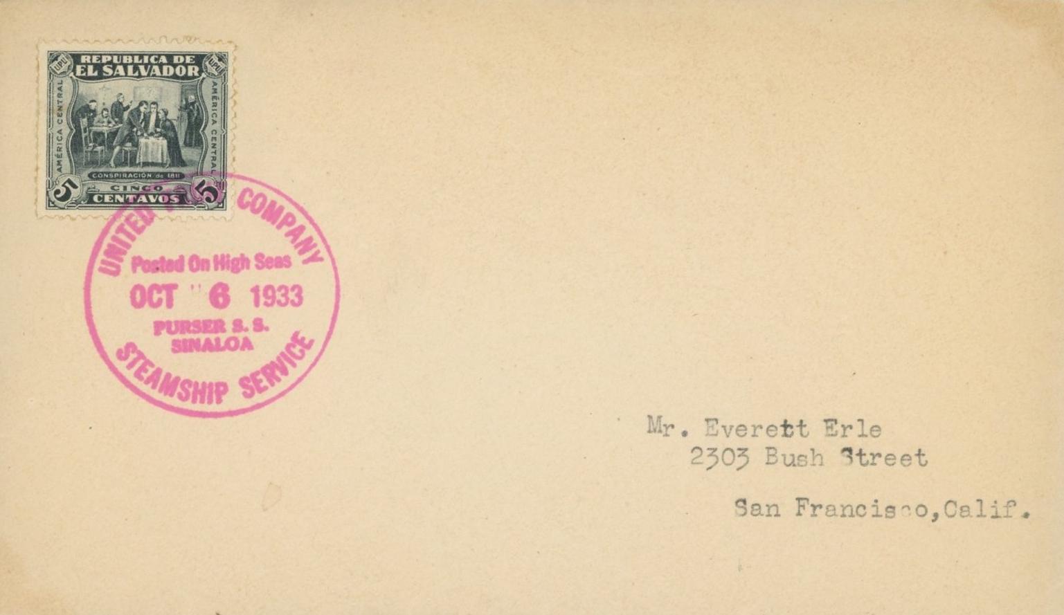 United Fruit Company 1933