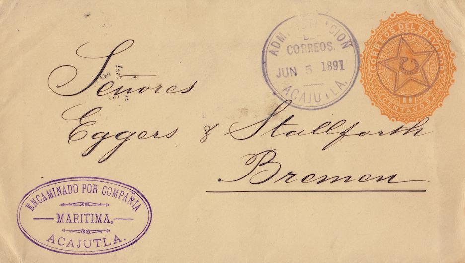 Compañía Marítima Acajutla 1891